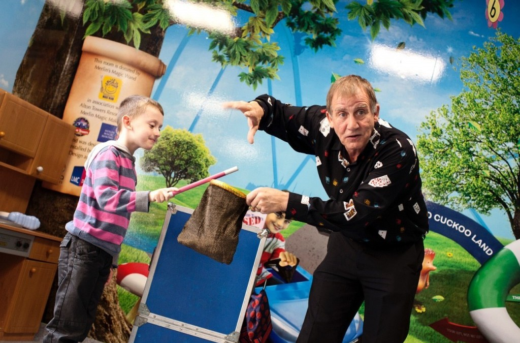 Funded entertainer continues to delight children at Royal Stoke University Hospital
