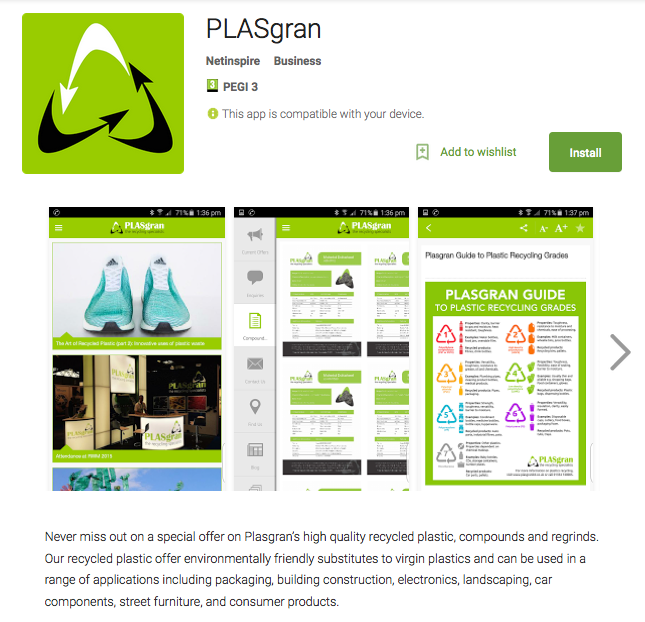 How Plasgran Benefits from a Branded Mobile App